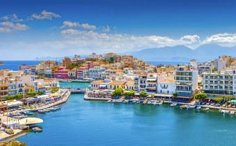Romantic Crete cities and villages