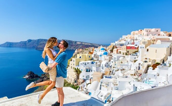 Santorini is popular adults-only holiday destination