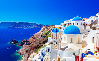 Santorini island vacation