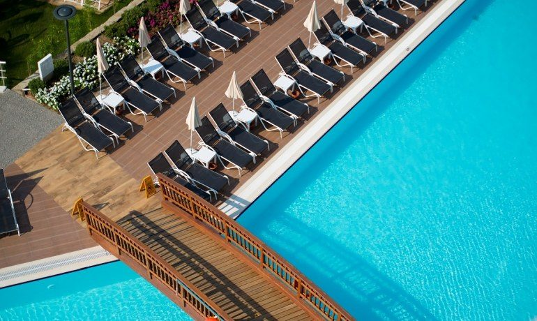 Numa Beach & Spa pool sunbeds