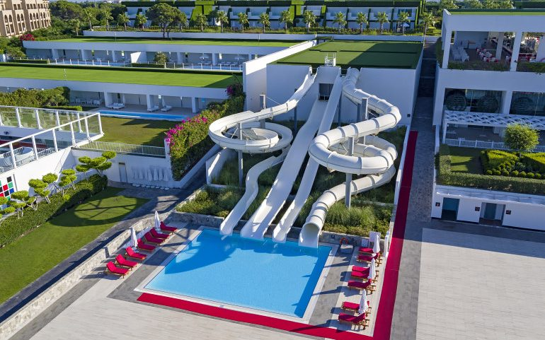 Adam & Eve Hotel Belek water slides