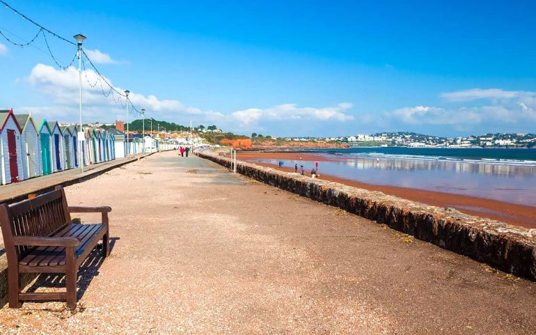 Paignton beach view