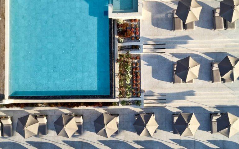 Esperos Village Blue & Spa pool top view